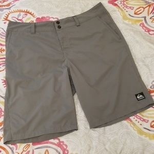 Grey Quicksilver Hybrid Boardshorts Size 36